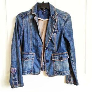 Gap Women's Denim Blazer Jacket Size 0